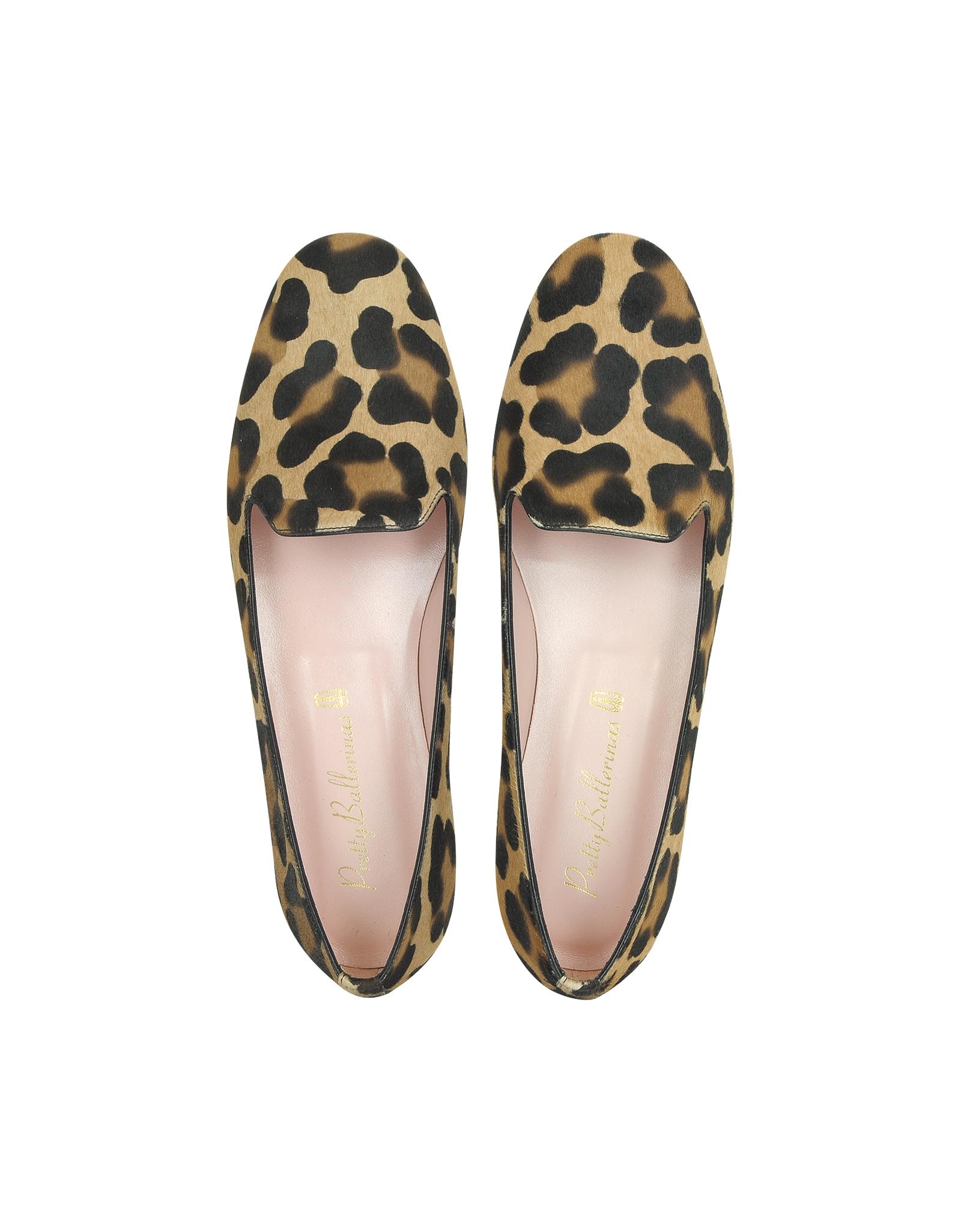 Lyst Pretty Ballerinas Faye Leopard Print Ponyhair