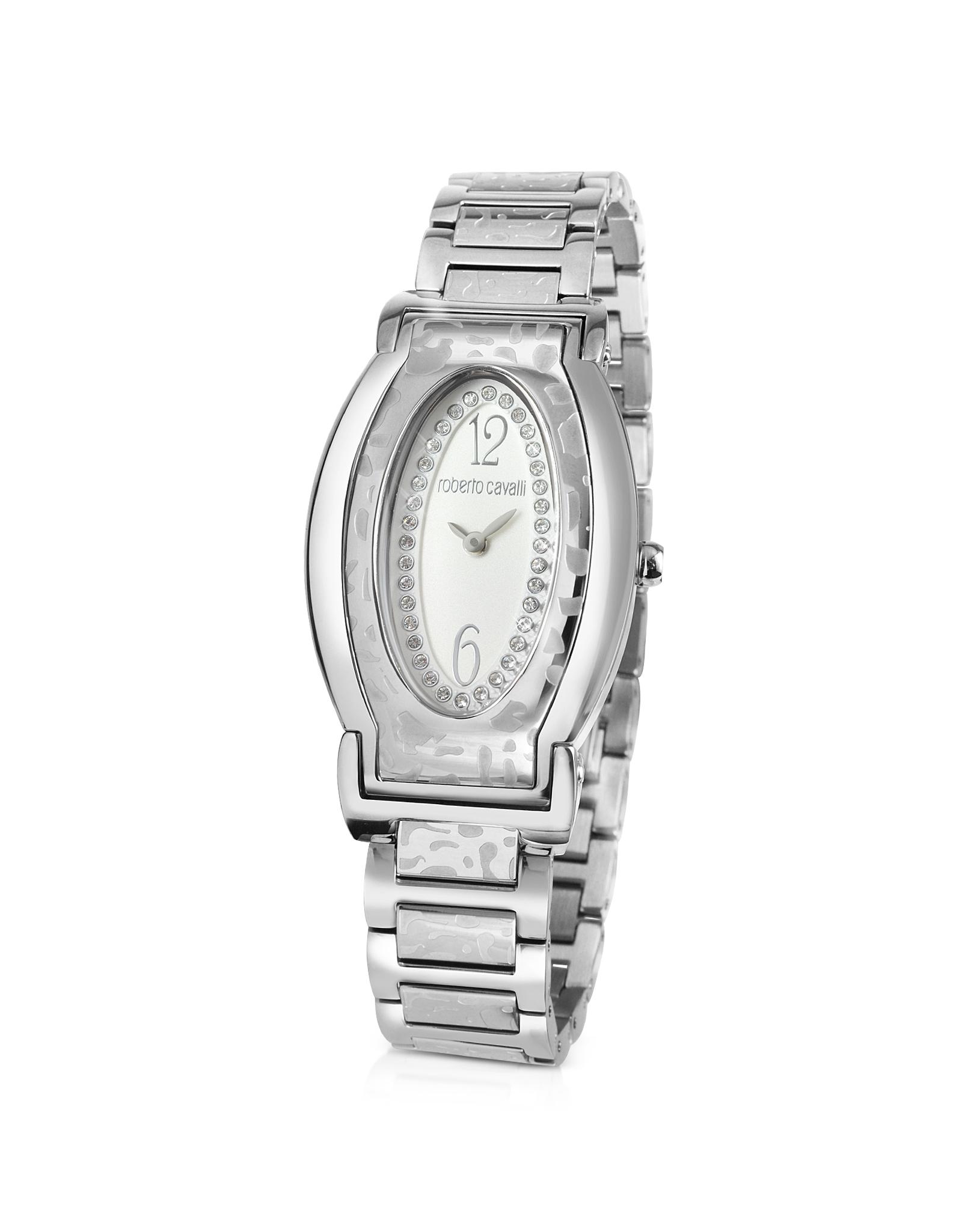 Lyst - Roberto Cavalli Diana Oval Dial Watch in Metallic 80dd0a0eab