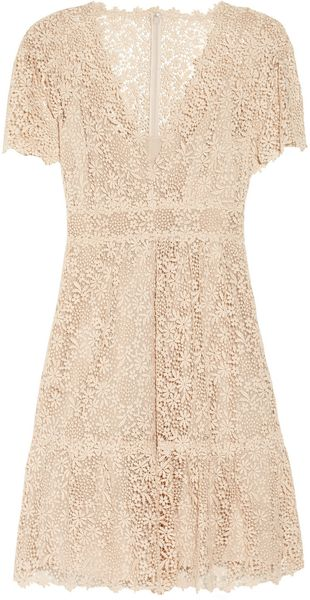 Valentino Cotton-lace Dress - Lyst