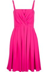 Valentino Pleated Silk Dress - Lyst