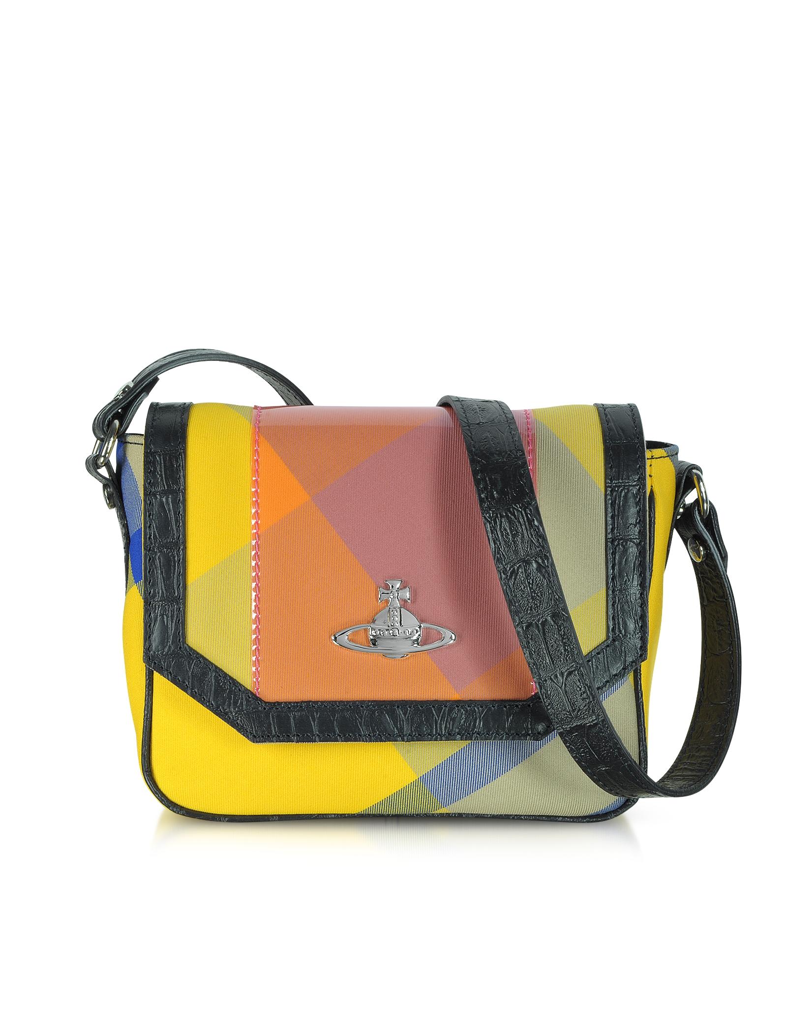 vivienne westwood tartan small crossbody bag in