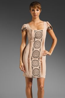 Alice By Temperley Rita Dress in Beige - Lyst