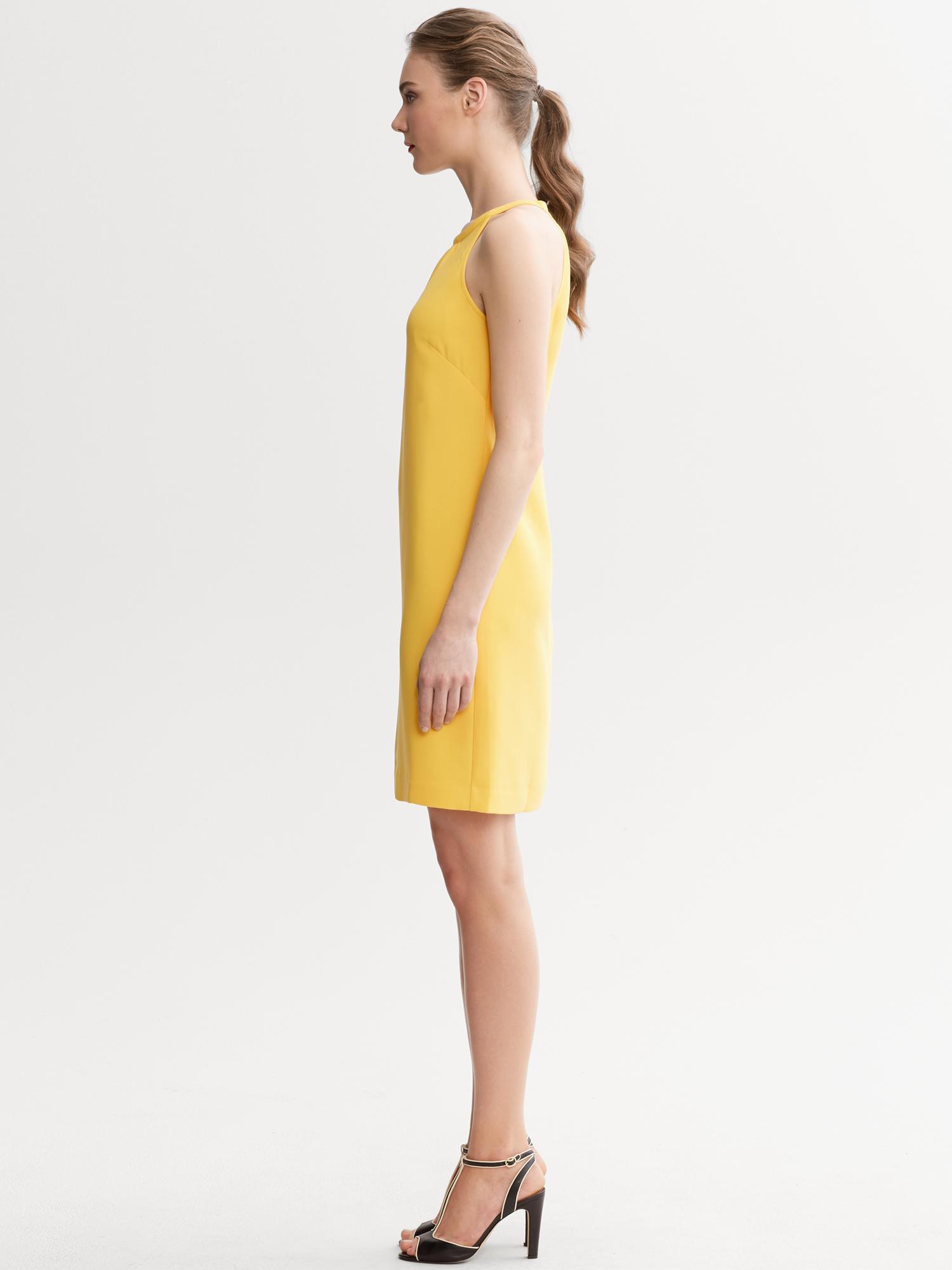 Lyst Banana Republic Yellow Halter Dress In Yellow