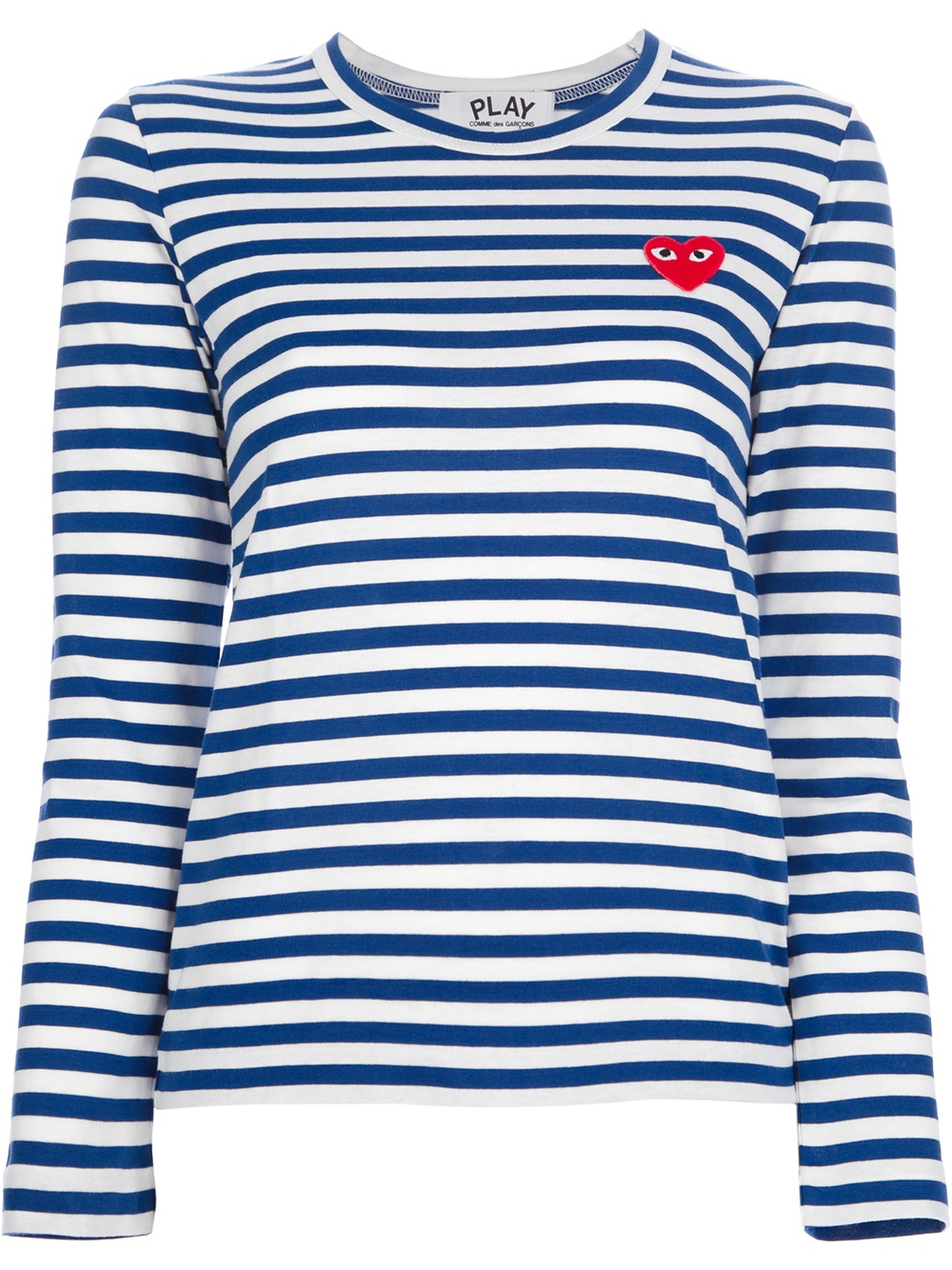 comme des gar ons long sleeve striped tshirt in blue lyst. Black Bedroom Furniture Sets. Home Design Ideas