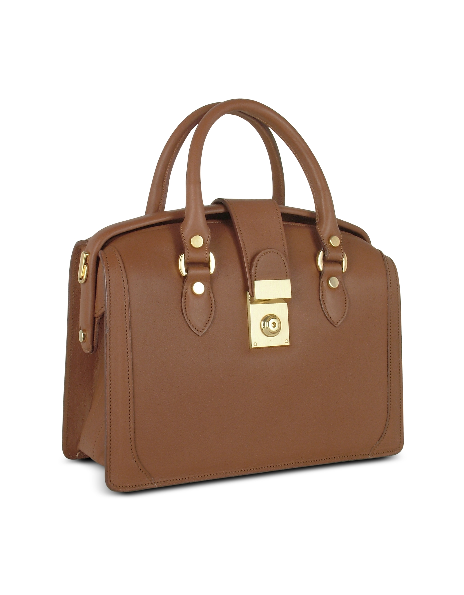 L A P Women S Brown Italian Leather Doctor Bag