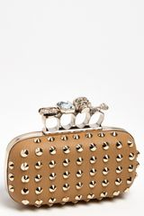 Natasha Couture Finger Studded Clutch - Lyst