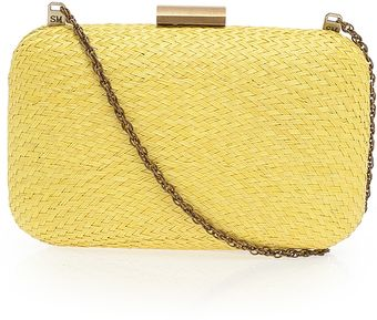 Serpui Marie Woven Rectangle Clutch - Lyst