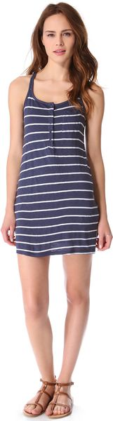 Splendid Striped Tank Dress - Lyst