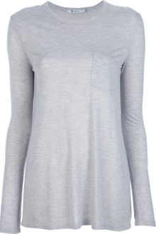 T By Alexander Wang Long Sleeve T-shirt - Lyst