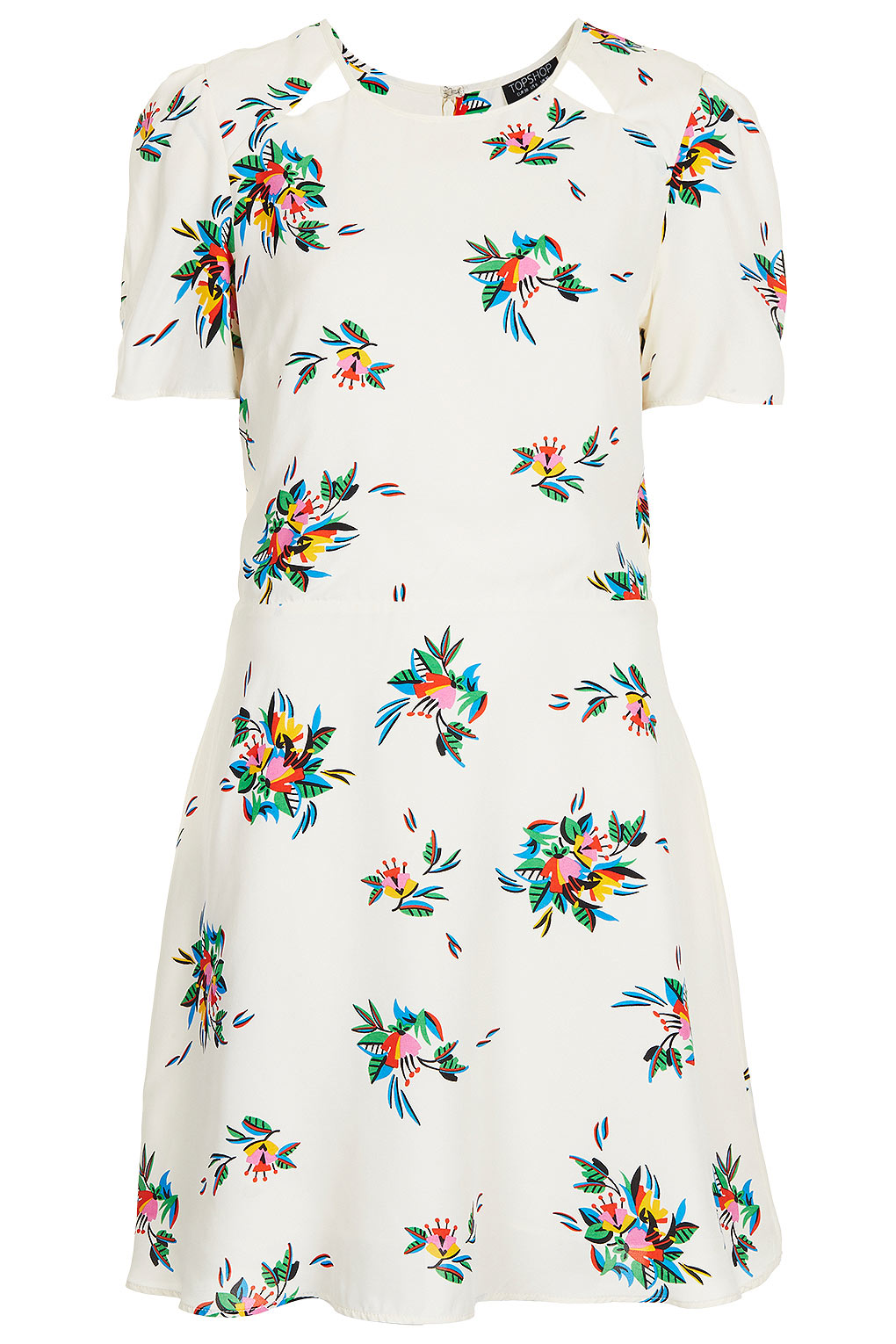 Lyst topshop tattoo floral teadress in white gallery mightylinksfo