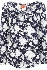 Tory Burch Printed Blouse - Lyst