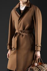 Burberry Cotton Gabardine Bonded Trench Coat - Lyst