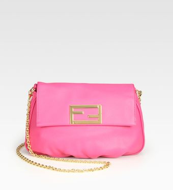 Fendi Leather Pouchette - Lyst