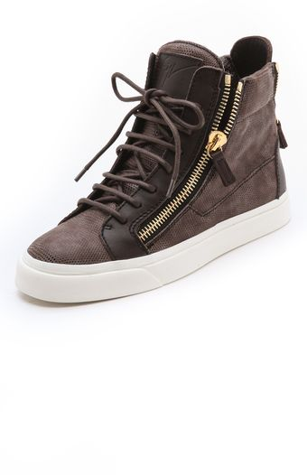 Giuseppe Zanotti London Double Zip Sneakers - Lyst
