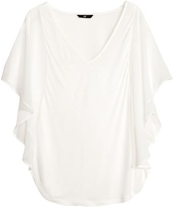 H&M Top with Butterfly Sleeves - Lyst