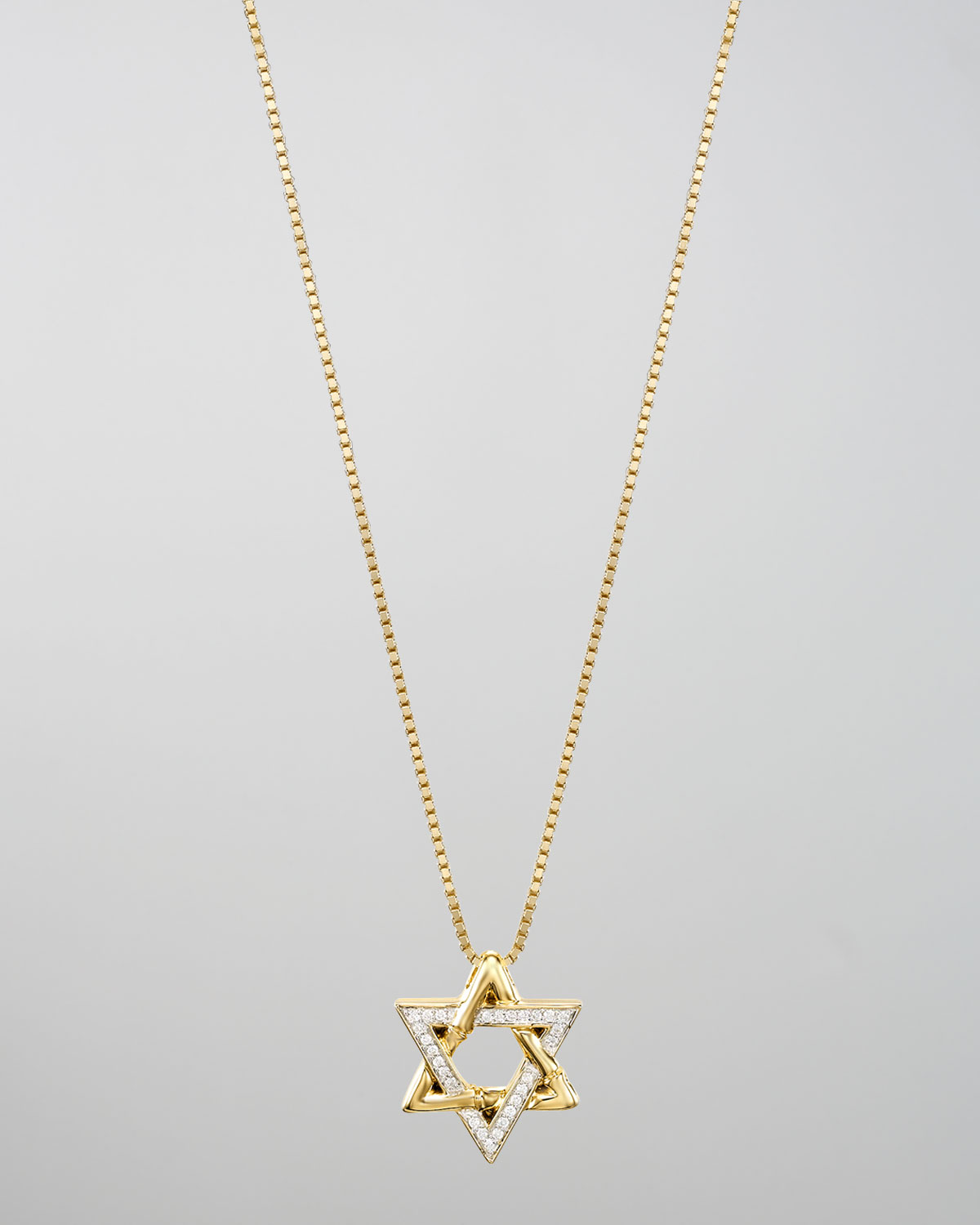 Lyst john hardy 18k gold pave diamond star of david pendant gallery mozeypictures Image collections