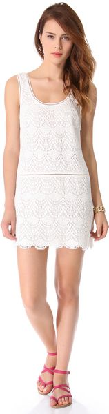 Juicy Couture Crochet Lace Tank Dress - Lyst