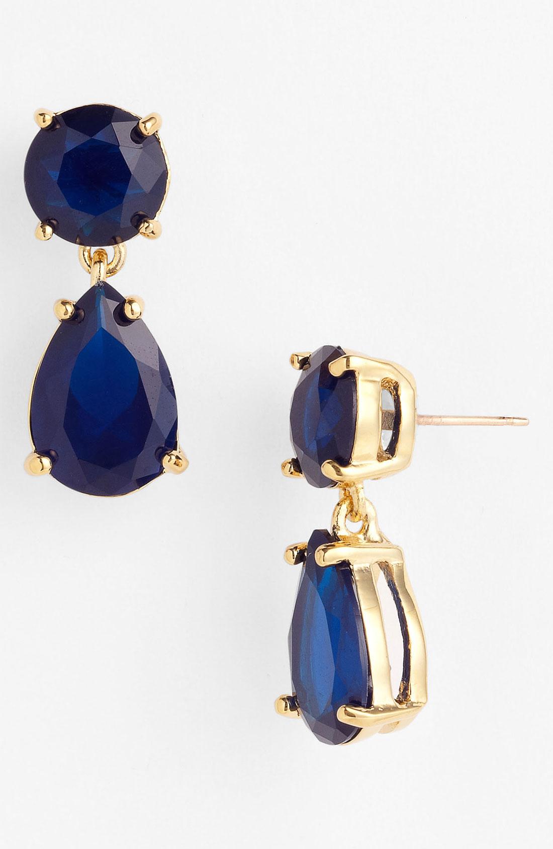 Kate Spade New York Drop Earrings In Blue Lyst
