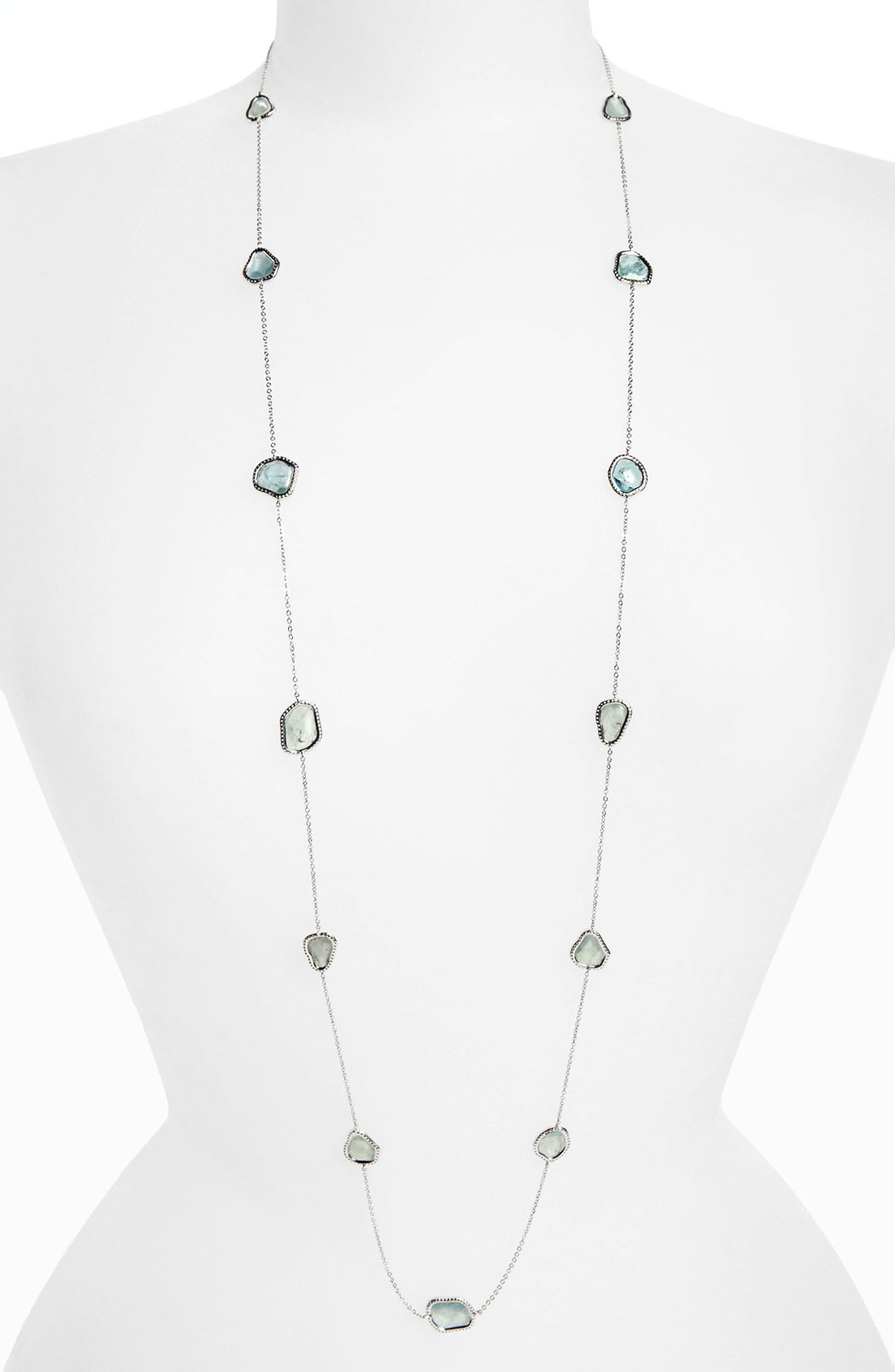 Nadri Long Station Necklace Nordstrom Exclusive in Silver ...