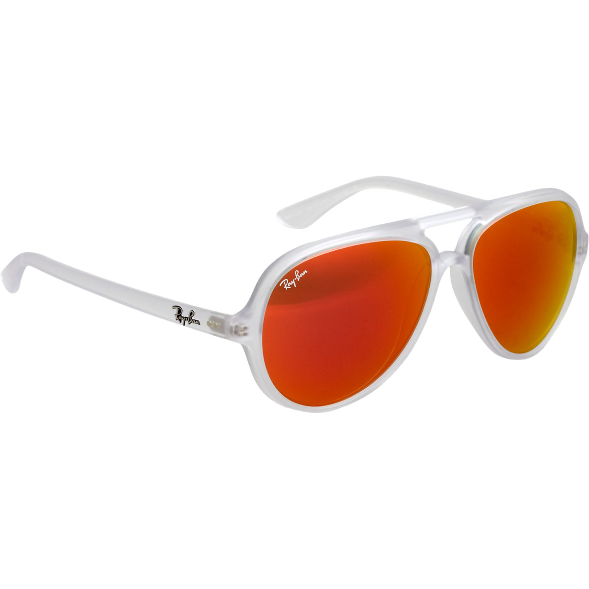 Lyst ray ban transparent aviator frame mirror lens for Mirror sunglasses
