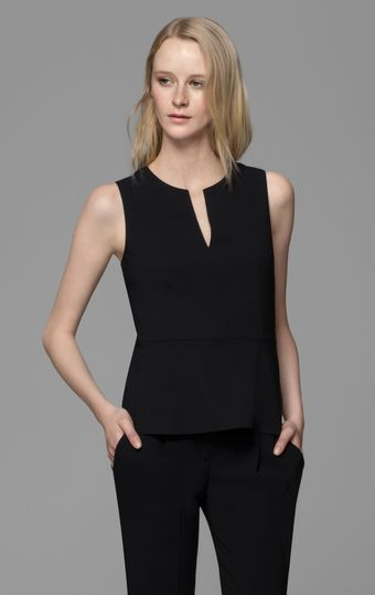 Theory Etia Urban Peplum Top - Lyst
