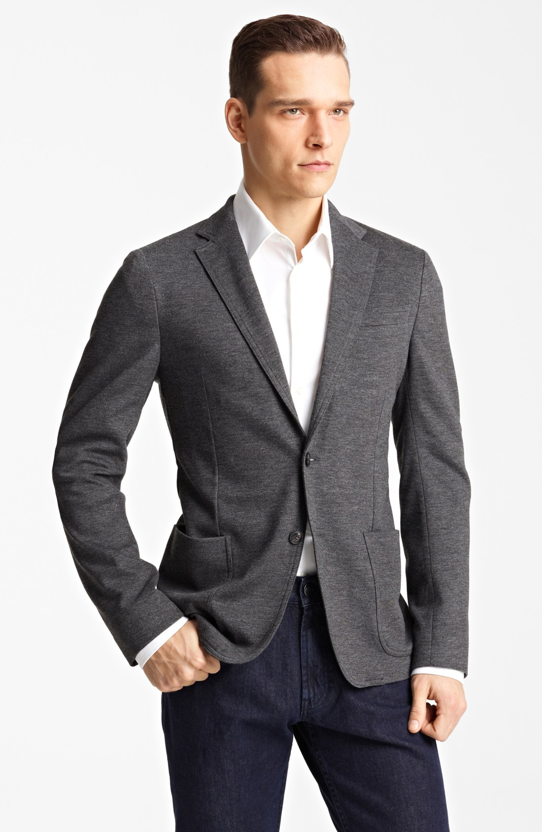 This listing is for a vintage Harris Tweed Men's black and Gray Wool 2 Btn Sport Coat Blazer Size 40 R USA Half lined single back vent chest 42in length 32in Shipping will be through usps priority mai J. CREW LUDLOW TOLLEGNO GRAY HERRINGBONE WOOL 2 BTN MENS SPORT COAT 40R.