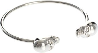 Asos Skull Bangle - Lyst