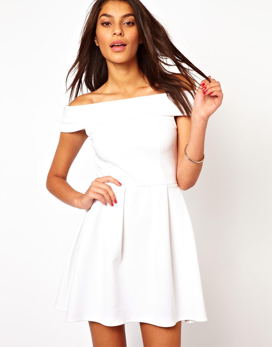 Off The Shoulder White Dresses
