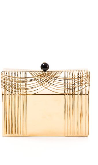 Benedetta Bruzziches Theater Carillon Gold Clutch - Lyst