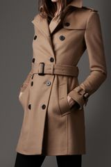 Burberry Wool Cashmere Trench Coat - Lyst