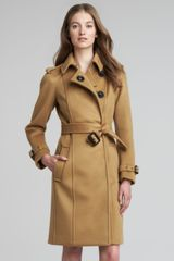 Burberry Prorsum Long Cashmere Snap Coat - Lyst