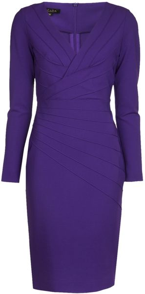 Escada V-neck Dress - Lyst