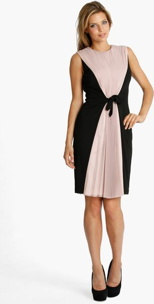 Js Collections Chiffon Crepe Cocktail Dress in Black ...
