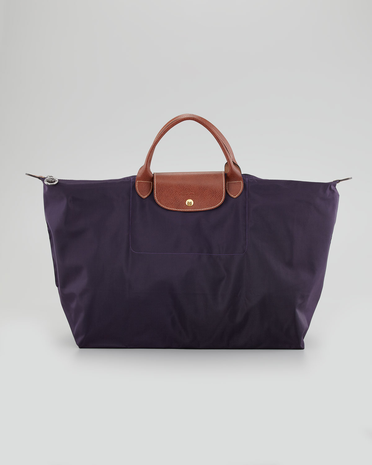 Longchamp Le Pliage Monogram Large Travel Tote Bag in Purple