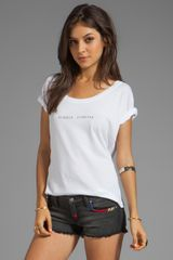 Wildfox Couture Summer Forever Tee in White - Lyst