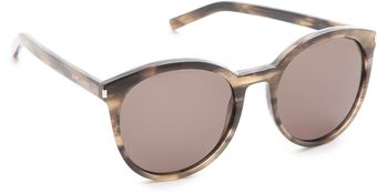 Yves Saint Laurent Classic Preppy Round Sunglasses - Lyst