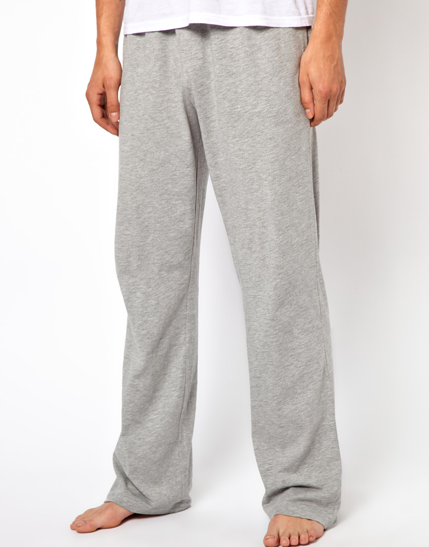 Asos Jersey Lounge Pants In Gray For Men Lyst