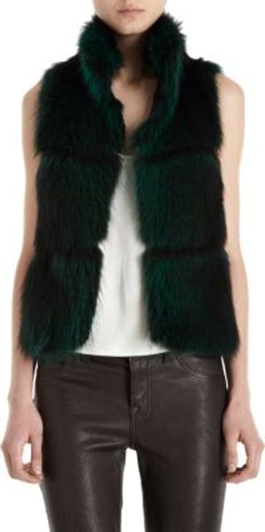 Barneys New York Fur Vest - Lyst