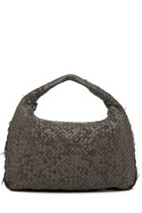 Bottega Veneta Large Intrecciato Velours Hobo Bag in Gray - Lyst