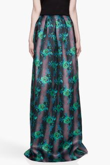 Christopher Kane Green Floral Print Princess Maxi Skirt - Lyst