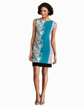 Donna Morgan Cap Sleeve Sheath Dress - Lyst