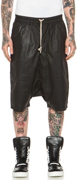DRKSHDW by Rick Owens Poplin Wax Drawstring Pods in Black - Lyst