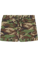 Equipment Lilian Camouflageprint Silk Pajama Shorts