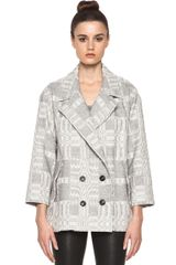 Etoile Isabel Marant Alika Blanket Coat in Prints - Lyst