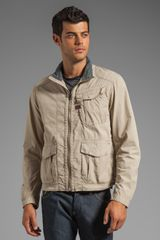 G-star Raw Nelson Overshirt Jacket in Beige - Lyst