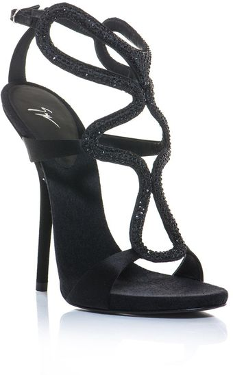 Giuseppe Zanotti Crystal Embellished Cut Out Shoes - Lyst