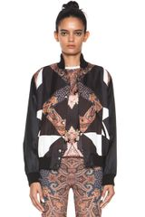 Bomber Jacket in Geometric Printfloral