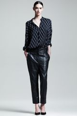 Haider Ackermann Slouchy Cuffed Leather Pants - Lyst