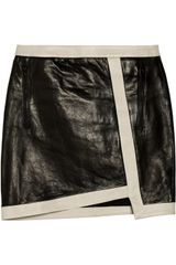 Helmut Lang Evolution Leather Mini Skirt - Lyst