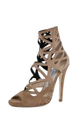 Jimmy Choo Viva Cut Out Bootie in Neutrals - Lyst